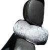 ZeBo Pillow folded around car seat headrest